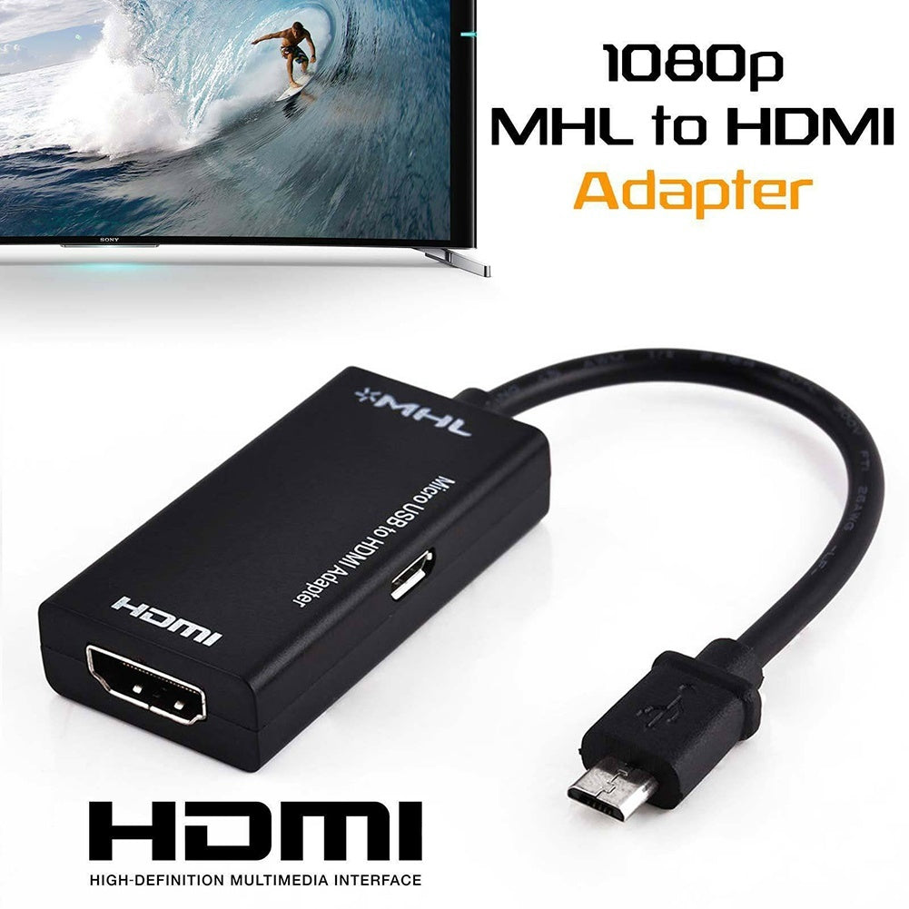 Hot S2 MHL Micro USB to HD 1080P HDMI Adapter Converter for Android Samsung Huawei (2Types)