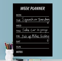 Load image into Gallery viewer, Monthly And Week Planner Chalkboard Chalk Blackboard Wall Sticker Decor Month Plan Calendar DIY