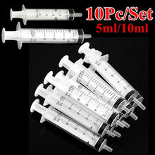 Load image into Gallery viewer, 10Pcs 5ml /10ml Reusable Medical Syringe Injection Hypodermic for Cartridge Refilling Pet Given Medicines Nutrient Measuring
