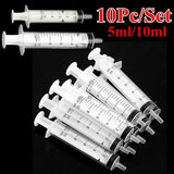 10Pcs 5ml /10ml Reusable Medical Syringe Injection Hypodermic for Cartridge Refilling Pet Given Medicines Nutrient Measuring