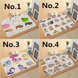 Cute Pusheen The Cat Doormat Kitchen Bathroom Door Floor Table Anti-slip Mat Rugs Carpet 40x60cm 15.7inches*23.6inches