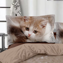 Load image into Gallery viewer, CHREZMAY 2/3Pcs Bedding Set New Design 3D Cat Printing Bedclothes Bedding Decor Winter Comfortable Bedding Sets