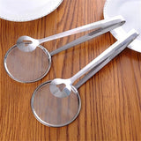 1Pc 29CM Stainless Steel Filter Spoon with Clip Multi-functional Colander Oil-Frying Filter Fried Food Clip