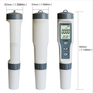4 in 1 TDS/EC/PH/TEMP Meter LCD Digital Water Quality Monitor Tester Purity Pen