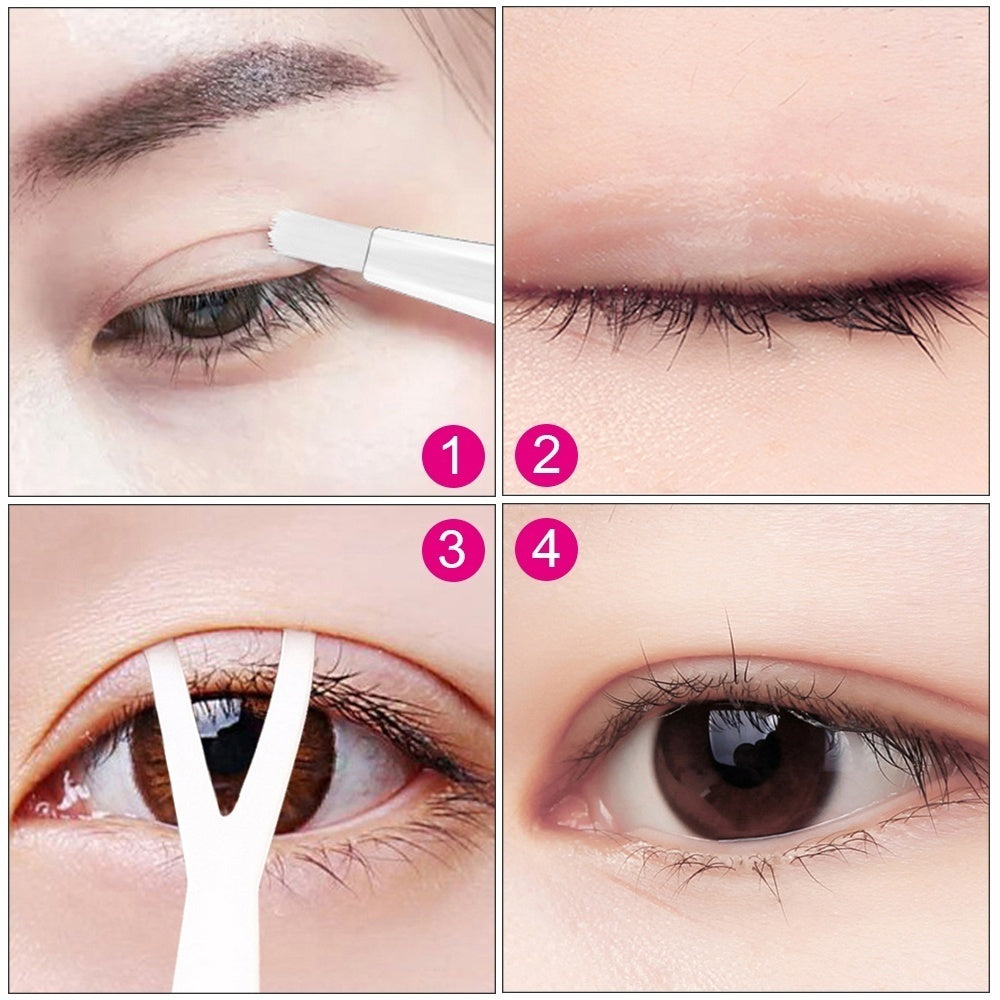Double Eyelid Styling Cream Glue Double Eyelids Stickers Big Eye Styling Eyelid Lift Gel  with Y-Shape Stick