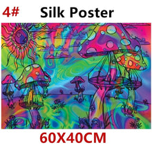 Load image into Gallery viewer, Psychedelic Trippy Tree Pattern Silk Fabric Posters Visual Mind Manifesting Art