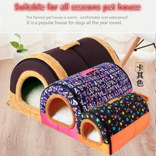 Load image into Gallery viewer, Winter Puppy Dogs Cats House Collapsible Warm Soft Pet Bed Kennel