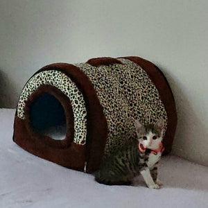 Winter Puppy Dogs Cats House Collapsible Warm Soft Pet Bed Kennel