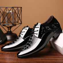 Load image into Gallery viewer, Men's Business Patent Leather Shoes Formal Pointed Toe Shoes Casual Dress Shoes Plus Size