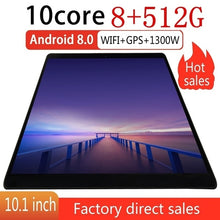 Load image into Gallery viewer, Tablet 10.1 Inch with 8GB +512GB Large Memory 1920*1200 IPS Screen Cheap Tablets Android  with 4G Network Octa Core MT6797 Dual SIM Card Ipad Pro Phone 4G Call Wifi Android Tablets