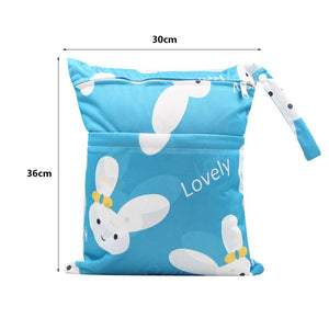 High Quality Travel Cartoon Striped Washable Wet Dry Pouch Mommy Storage Nappy Bag Baby Diaper Bag