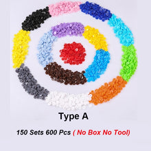 Load image into Gallery viewer, 600/1440Pcs 15/24 Colors Plastic Multcolor Press Studs DIY Kids Child Clothes T5 Plastic Fastener Snap Fastener Resin Stud Cloth Kit