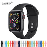 Silicone Sport Band for Apple Watch series 4 3 2 1 Bracelet apple watch band 38mm 42mm 40mm 44mm iwatch Strap correa