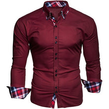 Load image into Gallery viewer, Men's Casual Tops Business Shirts Men's Slim Shirts(XS-XXXL)
