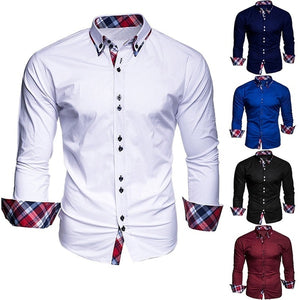 Men's Casual Tops Business Shirts Men's Slim Shirts(XS-XXXL)