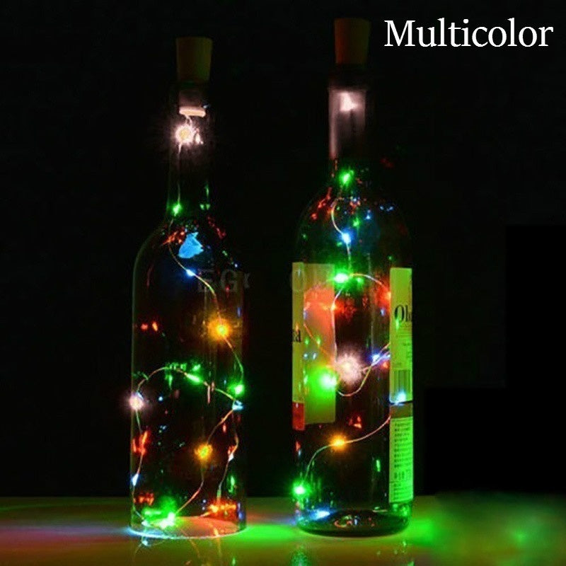 20LED Wine Bottle Cork Lights Copper Wire String Lights for Wedding Festival Party Decor