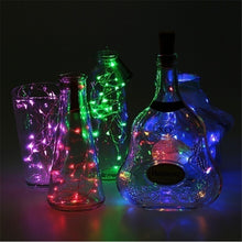 Load image into Gallery viewer, 20LED Wine Bottle Cork Lights Copper Wire String Lights for Wedding Festival Party Decor