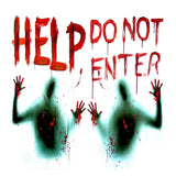 2PCS Haunted House Giant Bloody Eerie Wall Door Window Poster Halloween Party Suppliers Do Not Enter halloween Decoration