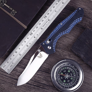 G10 Handle 810 Osborn Contego Cpm-M4 Steel Axis Lock Folding Knife Carbide Glass Breaker Axis Lock Tanto Blade