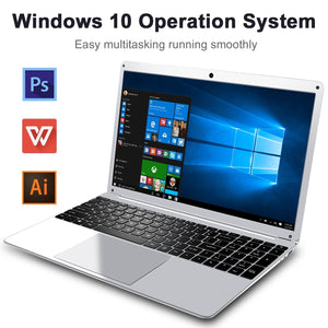 LHMZNIY Yepbook 15.6inch Laptop Intel Atom x5-E8000 Processor 4G RAM 64G/128G SSD Win10 1920*1080 IPS Screen Ultrabook