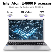 Load image into Gallery viewer, LHMZNIY Yepbook 15.6inch Laptop Intel Atom x5-E8000 Processor 4G RAM 64G/128G SSD Win10 1920*1080 IPS Screen Ultrabook