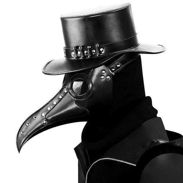 Vintage Steampunk Plague Doctor Masks PU Leather Birds Beak Masks Gothic Masquerade Ball Masks Halloween Cosplay Props
