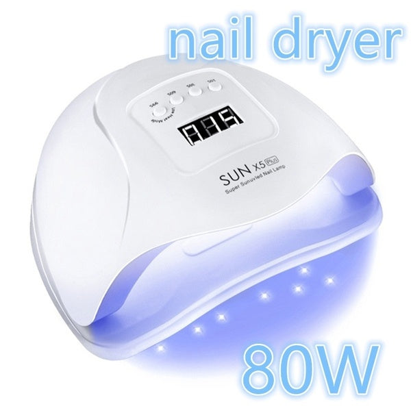 Promo ! 80W Nail Dryer LCD Display 36 LED UV Lights Nail Dryer Lamp For Curing Gel Auto Sensor Timer Nail Manicure