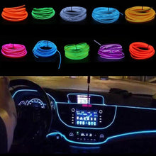 Load image into Gallery viewer, 1m/3m 12V LED Car Interior Decorative Atmosphere Glow Wire Light Strip
