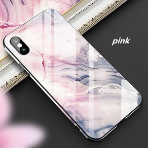 Creative ultra-thin glass shockproof and fall-proof cute high-end personality unisex silicone all-inclusive mobile phone case for iPhone6/6s/6Plus/6sPlus/7/8/7Plus/8Plus/X/Xr/Xs/XsMax