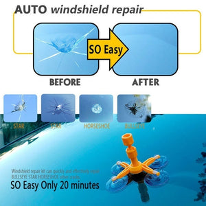 Windshield Repair Agent Automotive Front Windshield Crack Repair Fluid Sucker Automotive Glass Repair Tool