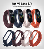 For Xiaomi Mi Band 4 3 Strap Pink Wine Red Color TPU Silicone Bracelet For Xiomi Miband 4 3 Band 4 Band 3 Wristband .