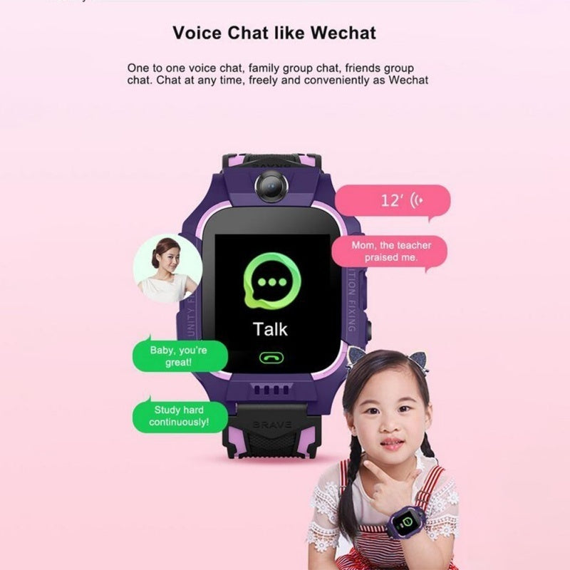 Q19 Positioning Touch Screen Camera Phone Smart Watch Life Waterproof English Version for Kids Gift