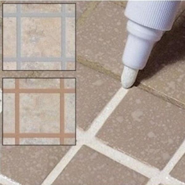 1X Tile Marker Repair Wall Pen White Grout Marker Odorless Non Toxic for Tiles Floor and Tyre ( Color: 12 Colors)