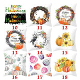 80 Styles New Halloween Watercolor Pumpkin Pillow Case Thanksgiving Pillow Case Cushion Cover Sofa Bed Car Decor
