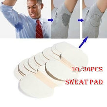 Load image into Gallery viewer, 10/30pcs Disposable Underarm Sweat Pads for Clothing Sweat Armpit Absorbent Pads Summer Perspiration Patch