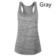 Load image into Gallery viewer, Women's Sport Casual Solid Color Yoga Vest Quick Drying Fabric Sleeveless  Fitness Vest   Running Vest  T -Shirts  Tank Tops