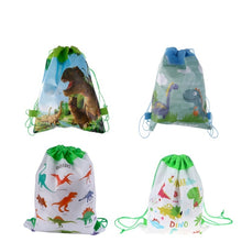 Load image into Gallery viewer, 1PC Dinosaur Gift Bag Non-woven Bag Backpack Kids Travel School Drawstring Bags