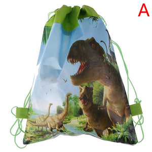 1PC Dinosaur Gift Bag Non-woven Bag Backpack Kids Travel School Drawstring Bags