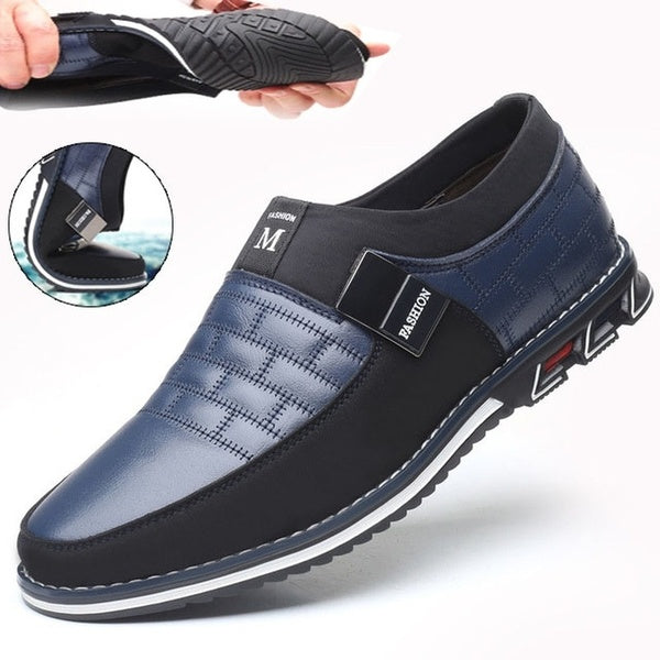 Fashion Mens Casual Shoes  Mens Loafers Moccasins Breathable Slip on Black Driving Shoes Male Business Formal Shoes Plus Size 38-46
