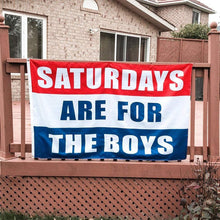 Load image into Gallery viewer, Saturdays for Boys Flag for Indoor and Outdoor 3X5 FT Dorm Room Decor Banner Print One Side
