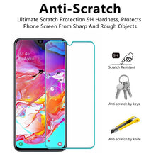 Load image into Gallery viewer, 2 in 1 Tempered Glass Screen Protector + Case Slim Crystal Transparent Silicone TPU Cover Case For Samsung Galaxy M10 M20 M30 A20 A30 A40 A50 A60 A70