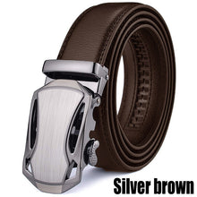 Load image into Gallery viewer, DaiJeiXiao Men's Genuine Leather Belt Designer Buckle Luxury Belts Business  Male Metal Automatic Buckle Belt