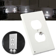 Load image into Gallery viewer, 3Pcs Wall Outlet Cover Plate Plug Cover Led Light Hallway Safety Light W/ Screws