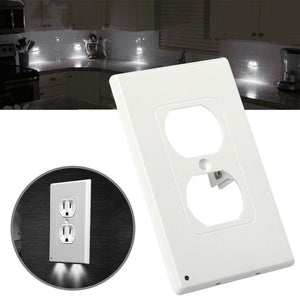 3Pcs Wall Outlet Cover Plate Plug Cover Led Light Hallway Safety Light W/ Screws