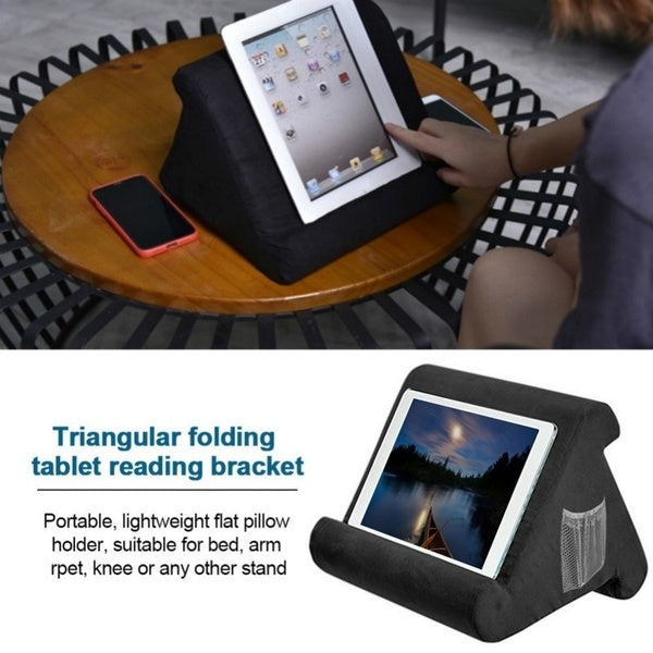 Multifunction Tablet Holder Ipad Bracket Laptop Cooling Pad Stand Watching Video Foam Pillow Rest Cushion