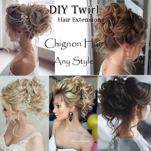 Load image into Gallery viewer, Real Thick 80G Wrap Around Curly Messy Bun Chignon / Long Ponytail Hair Extensions