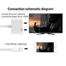 Load image into Gallery viewer, 8Pin Lightning To HDMI HDTV AV Adapter Dock USB Charger Cable for iPhone5 5s 6 6s Plus iPad