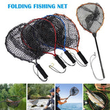 Fishing Net Aluminum Pole Retractable Telescoping Foldable Landing Rubber Net