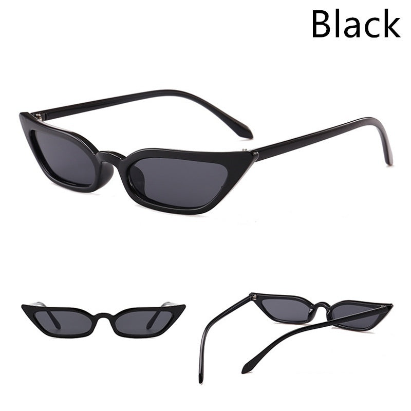 2019 new trend small frame sunglasses transparent ocean piece cat eye sunglasses fashion street sunglasses
