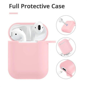 Airpods Case - Drop Proof Air Pods Protective Case Cover Silicone Skin Cute Fur Ball Airpods Keychain/Strap Apple Airpods Accessories